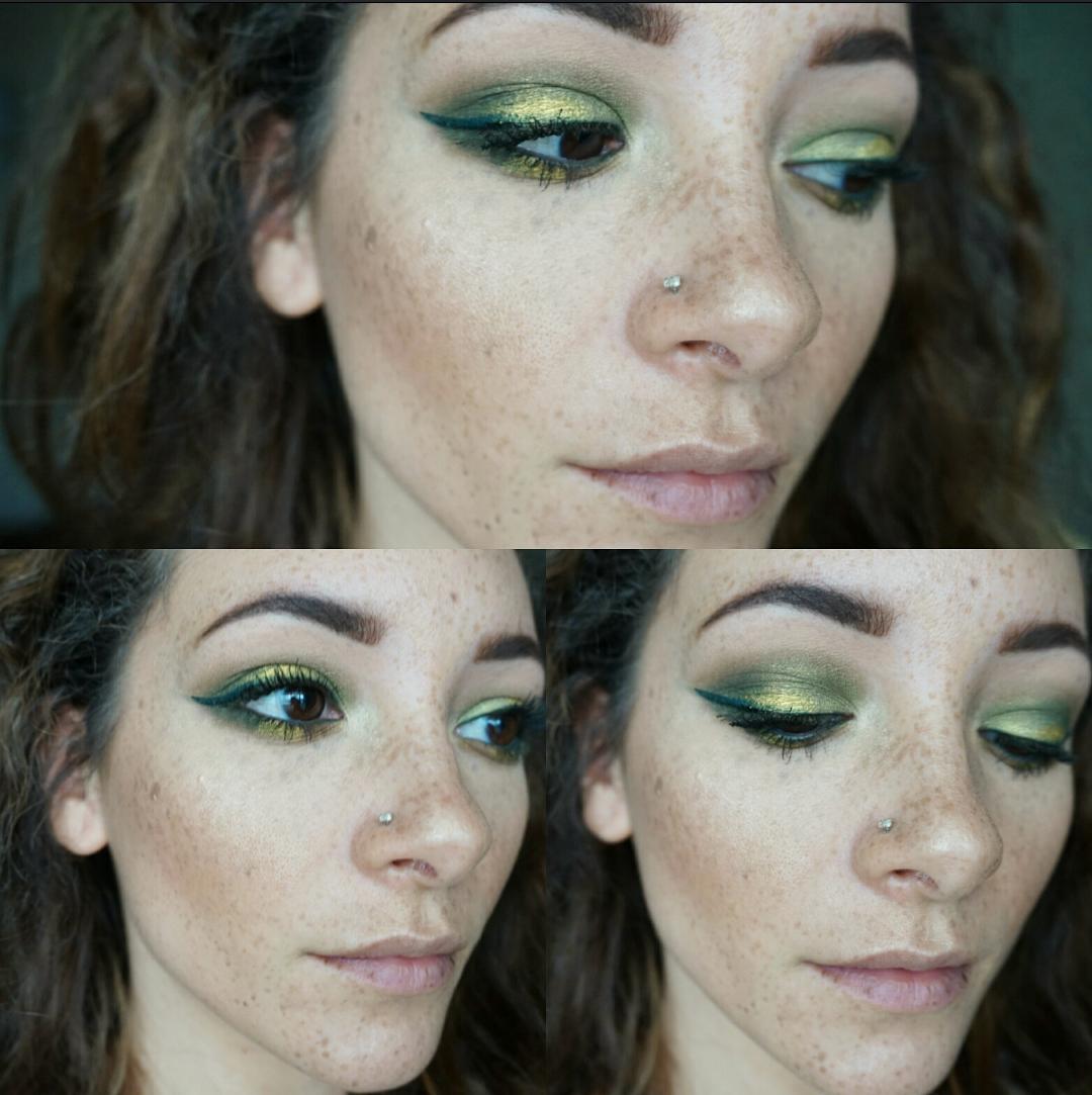 Bold green eye shadow tutorial zosomorgan image baditri Images
